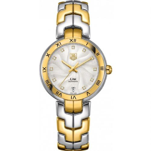 TAG HEUER Link Lady 18ct Gold & Diamond Dial Automatic Ladies Watch WAT2350.BB0957